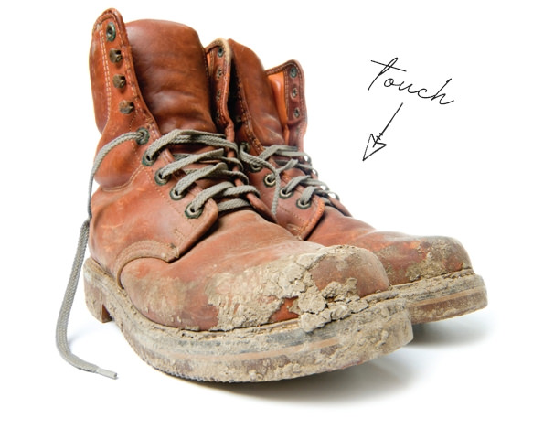 My muddy shoes